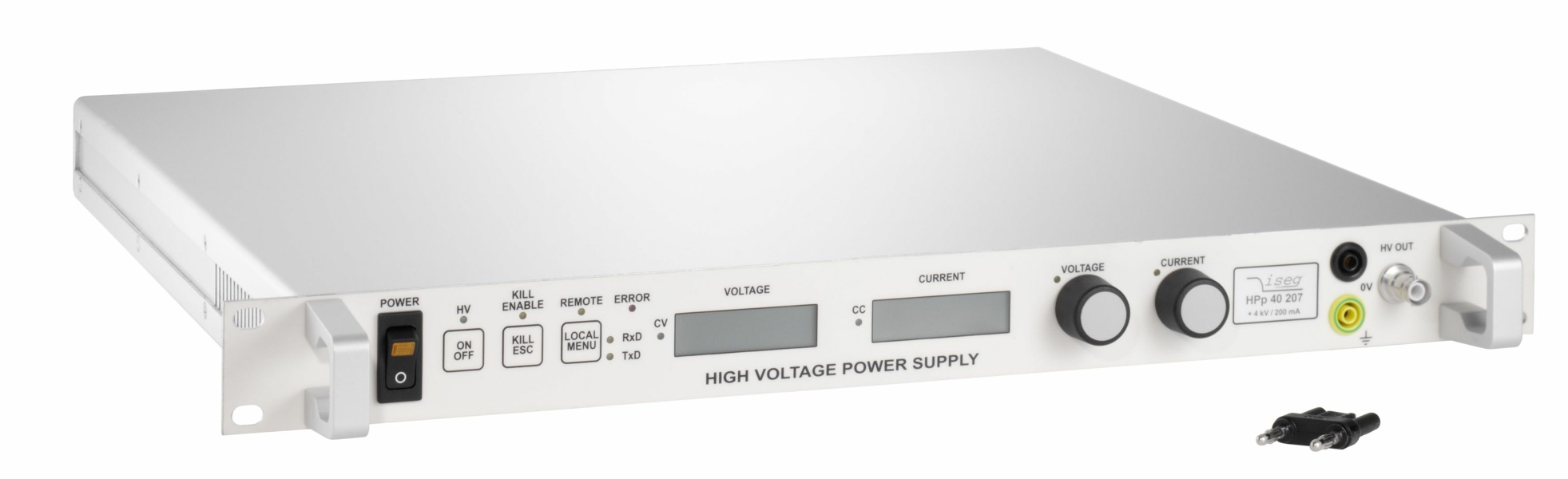 iseg HPS/LPS - AC mains supplied, modular HV power supply with manual front panel operation, 1-80 kV, 300 W-3 kW