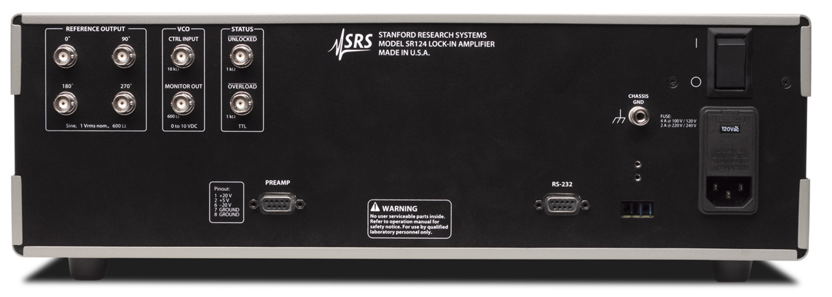 SRS SR124 — Analog lock-in amplifier
