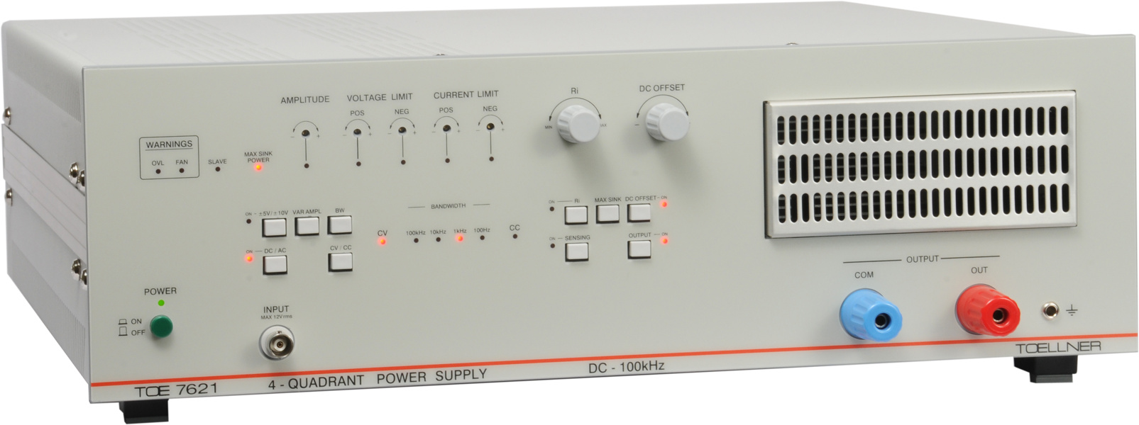 Toellner TOE 7621 Series of 4-Quadrant Power Supplies, 320 W source + sink, DC...100 kHz / 400 kHz