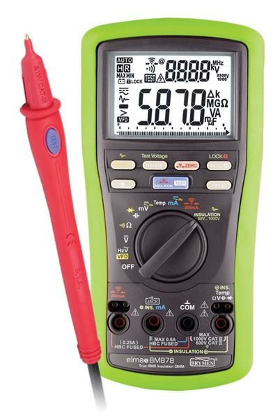 Elma BM 878 - Isolationstestare och TRMS Kat IV multimeter