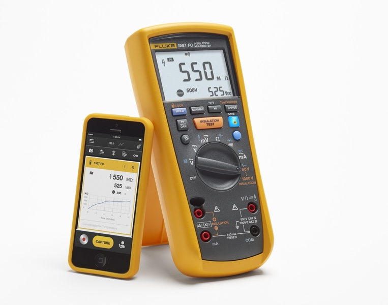 Fluke 1587 FC isolationsmultimeter - Multimeter och isolationsprovare i ett instrument!