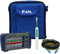 AFL FlexScan FS200-100-Plus OTDR with SmartAuto & LinkMap, delivered with One-click cleaner and 150m fiber ring